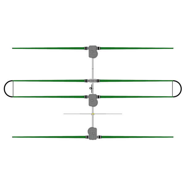 SteppIR 3 Element Yagi Antenna with 30/40 Loop Dipole Added (SDA 100 Controller)